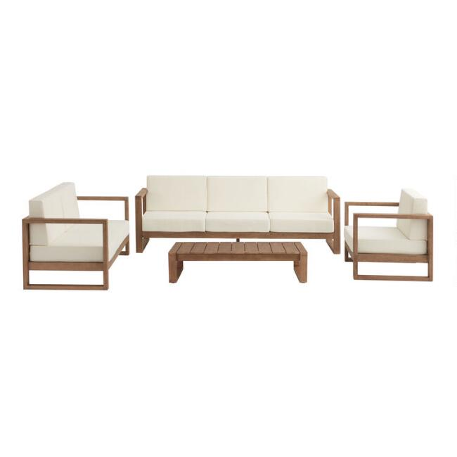Light Brown Eucalyptus Segovia Outdoor Furniture Collection