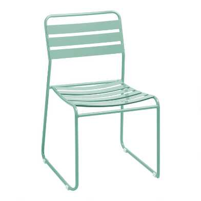 Metal Naxos Outdoor Dining Chairs Set of 2
