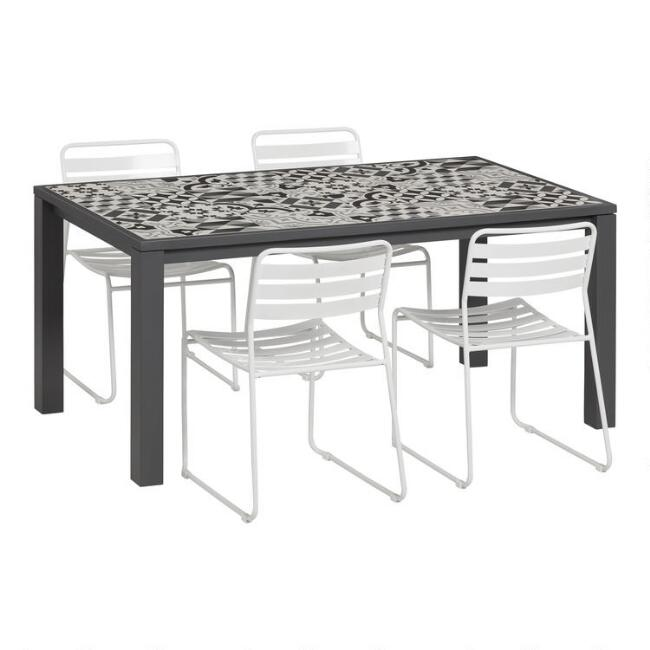 Levanzo Outdoor Dining Table Collection With Naxos Chairs