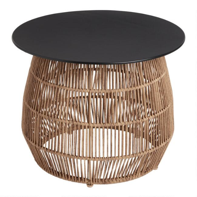 All Weather Wicker and Metal Stavros Outdoor Coffee Table