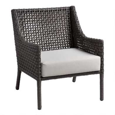 Espresso All Weather Wicker Alvaro Outdoor Occasional Chair