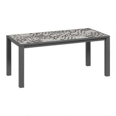 Mosaic Tile Levanzo Outdoor Dining Table