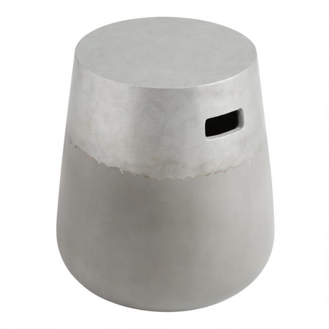 Two Tone Cement Erin Outdoor Stool