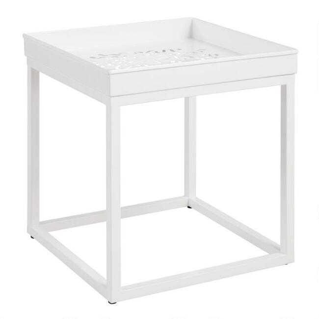 White Ophelia Outdoor Accent Table
