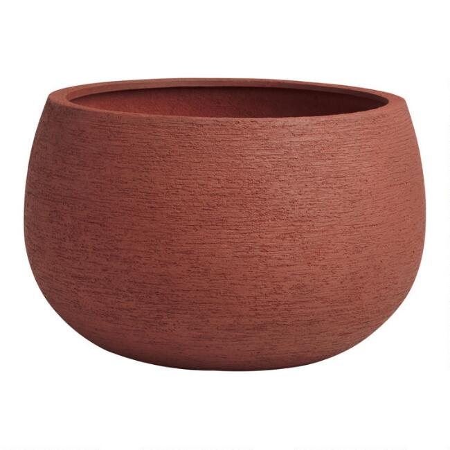 Small Rust Lightweight Andreas Outdoor Planter