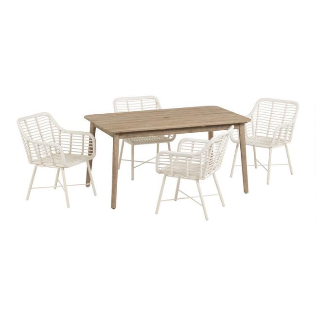 Sintra Outdoor Dining Table Collection with Salamanca Chairs
