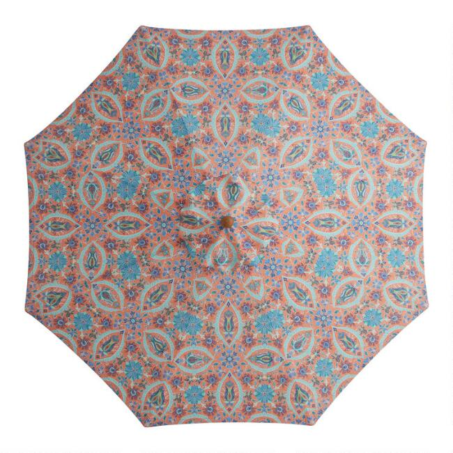 Coral Grotto Mosaic 9 Ft Replacement Umbrella Canopy