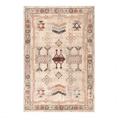 Beige Vintage Style Abby Area Rug