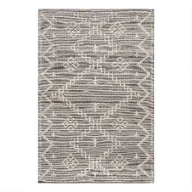 Gray and Ivory Flatweave Jute Rabat Area Rug