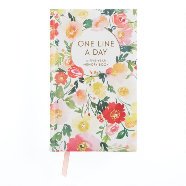 Floral One Line a Day Five Year Memory Book