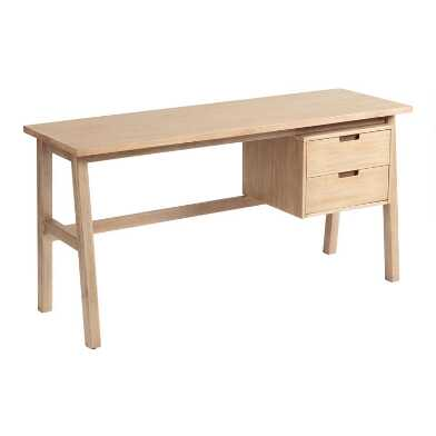 Graywashed Calder Desk with Drawers