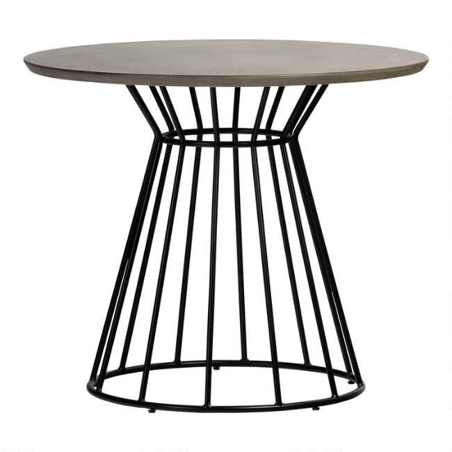 Round Faux Cement Ronan Dining Table