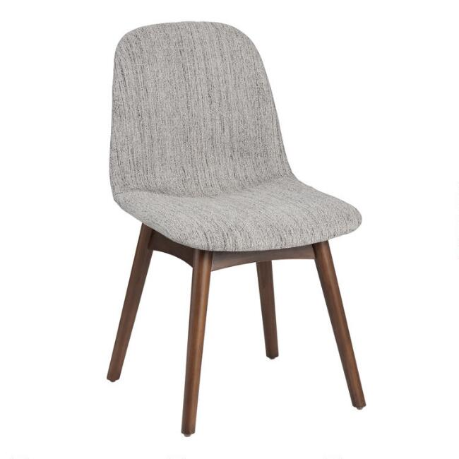 Mid Century Molded Edith Upholstered Dining Chair Set of 2