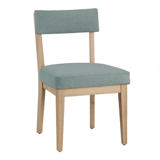 Soft Green Ayala Upholstered Dining Chair Set of 2