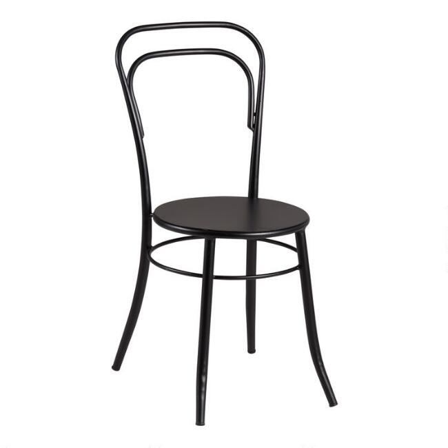 Black Metal Darcy Cafe Dining Chair Set of 2