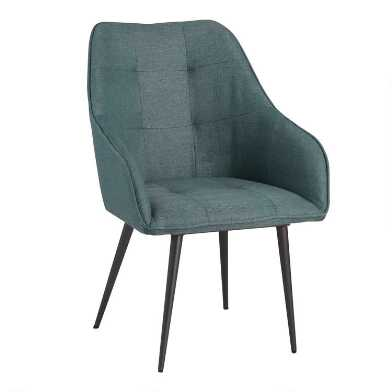 Blue Green Tufted Claude Dining Armchair