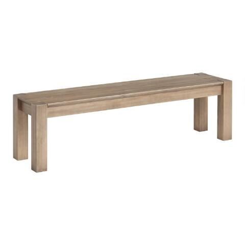 Graywashed Pine Rylie Dining Bench