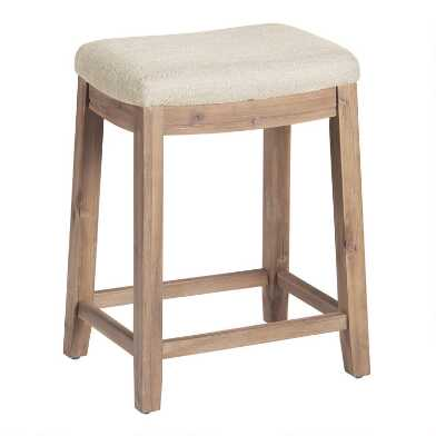 Backless Laila Upholstered Counter Stool