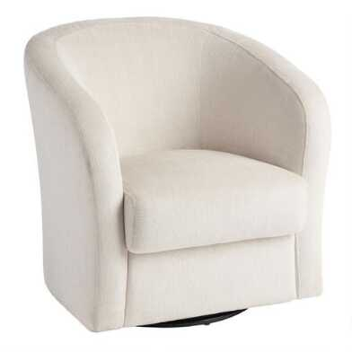 Ivory Megan Swivel Chair