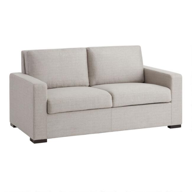 Pebble Gray Oren Storage Loveseat