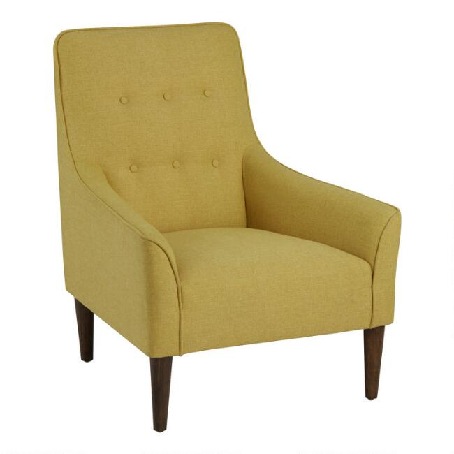 Yellow Woven Taryn Upholstered Chair