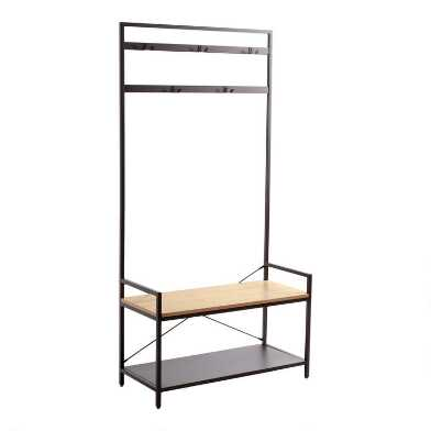 Travis Entryway Storage Rack and Bench