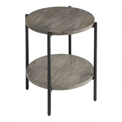 Round Nova Accent Table with Shelf