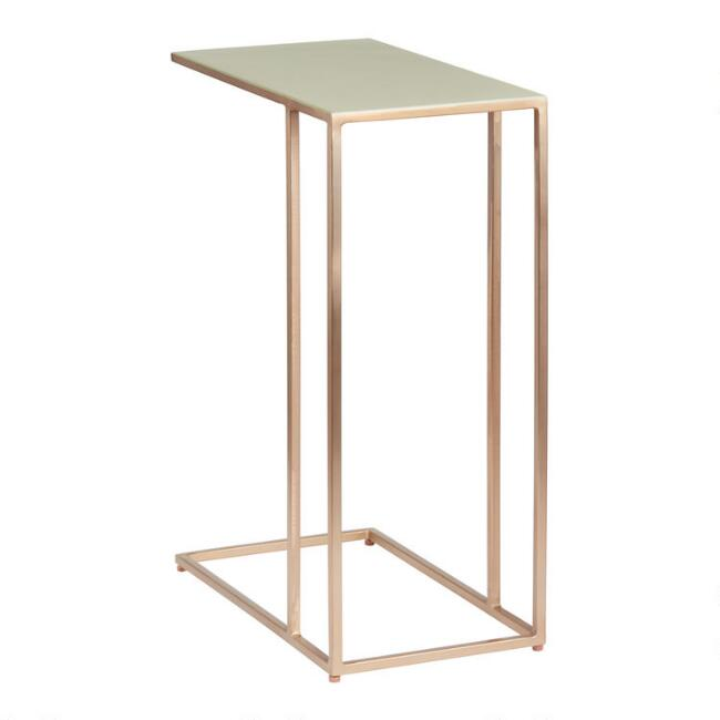 Pale Green and Rose Gold Melina Laptop Table