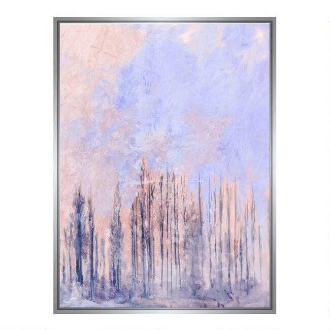Treescape Abstract Framed Canvas Wall Art
