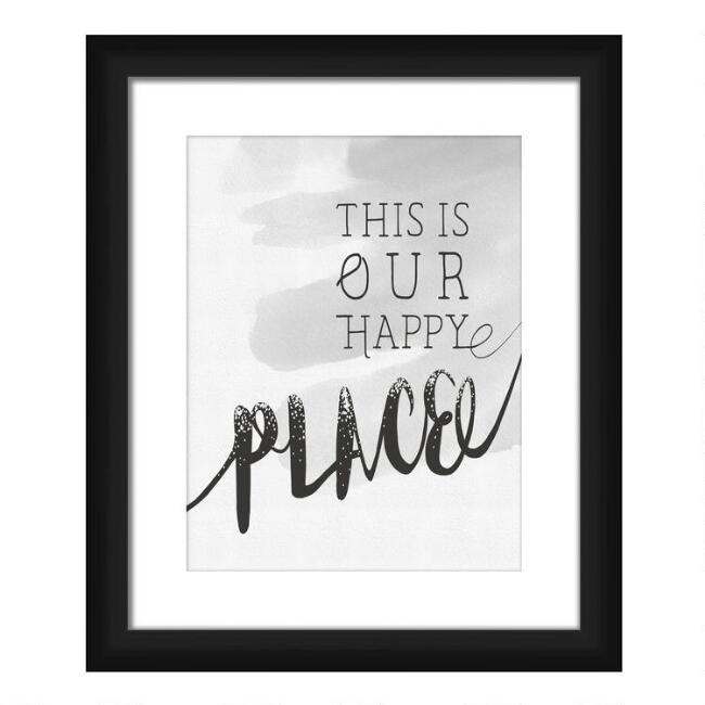 Happy Place Framed Wall Art