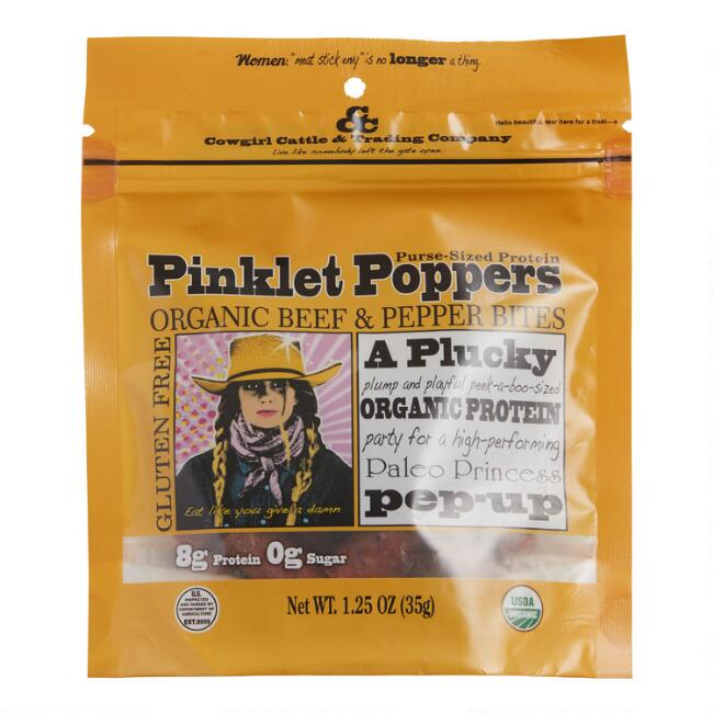 Cowgirl Cattle Pinklet Poppers Organic Beef & Pepper Bites