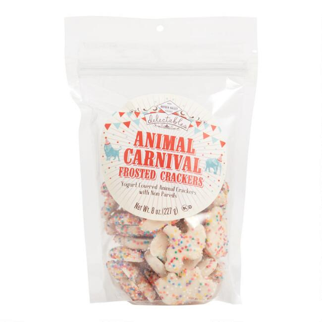 Hayden Valley Animal Carnival Frosted Crackers Set of 12