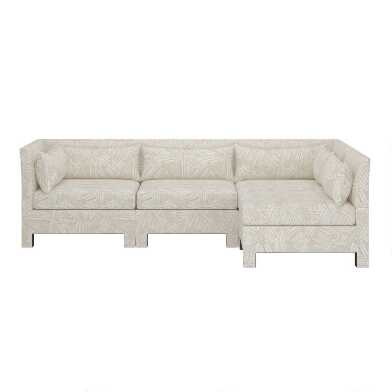 Mika 4 Piece L Shaped Modular Sectional Sofa