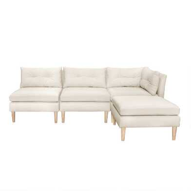 Kennedy 4 Piece Modular Sectional Sofa with Ottoman