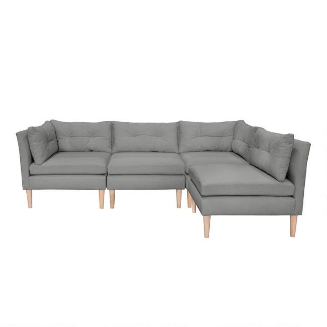 Kennedy 4 Piece L Shaped Modular Sectional Sofa