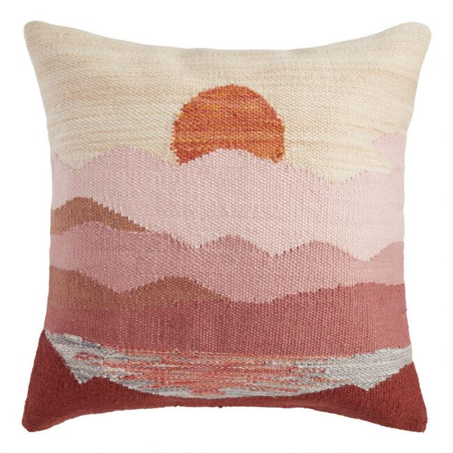 Warm Sunset Indoor Outdoor Throw Pillow