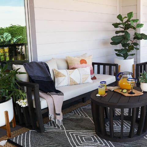 Warm Sunset Indoor Outdoor Throw Pillow World Market