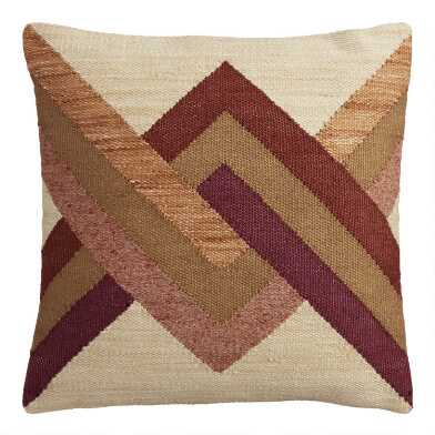 Warm Intertwined Indoor Outdoor Throw Pillow