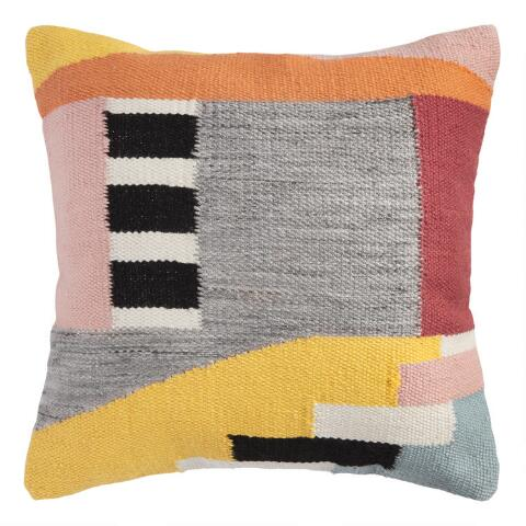 Multicolor Abstract Indoor Outdoor Throw Pillow World Market