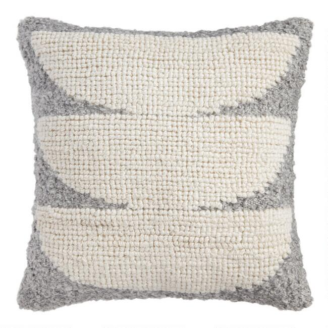 Gray Sol Indoor Outdoor Throw Pillow