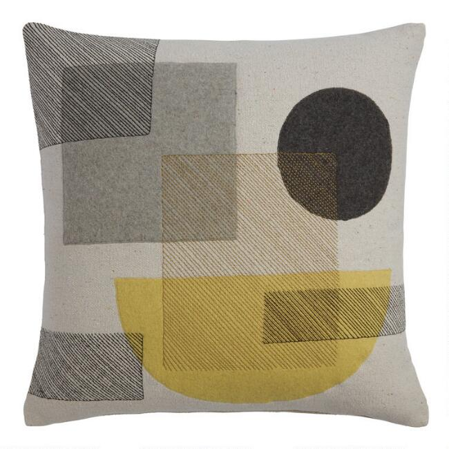 Abstract Applique Throw Pillow