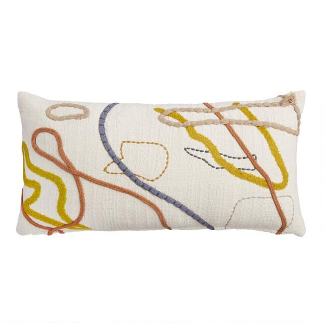 Abstract Contoured Line Lumbar Pillow