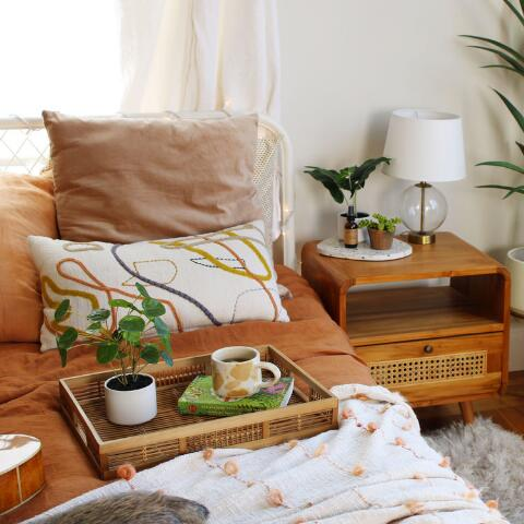 Abstract Contoured Line Lumbar Pillow World Market