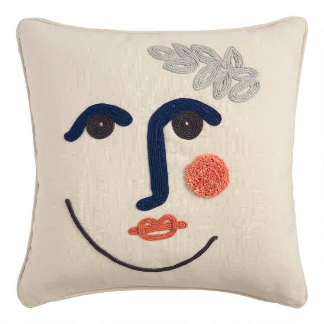 Natural Contour Face Indoor Outdoor Throw Pillow