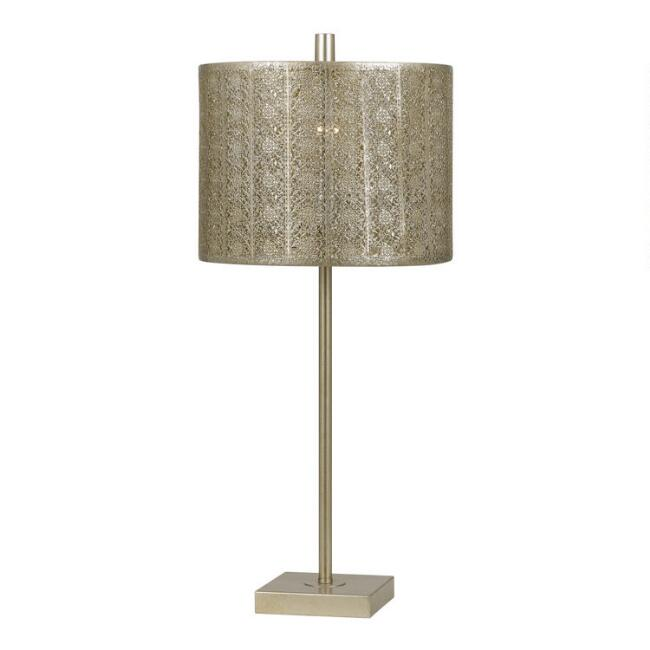 Gold Metal Filigree Marian Table Lamp