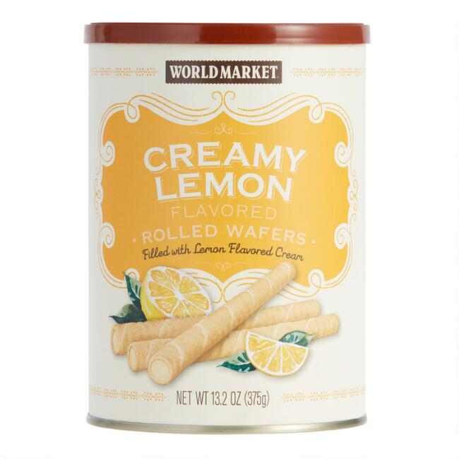 World Market® Creamy Lemon Rolled Wafers