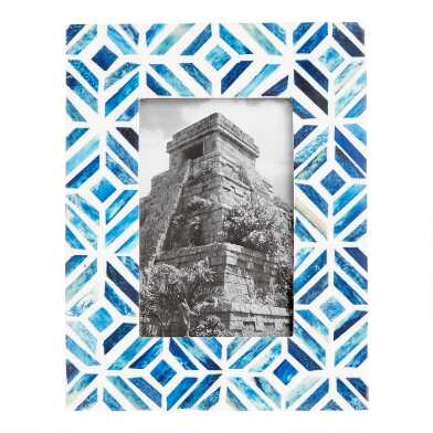 Blue and White Deco Tile Bone Frame