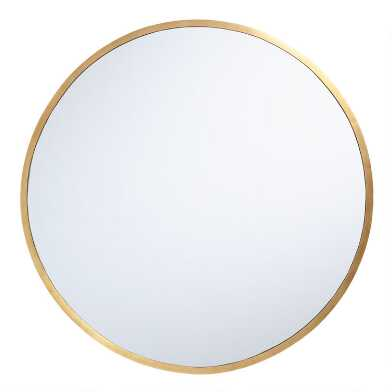Oversized Round Brass Sana Mirror