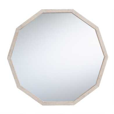 Whitewash Polygon Kiara Mirror