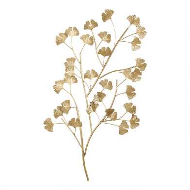 Antique Gold Gingko Branch Wall Decor